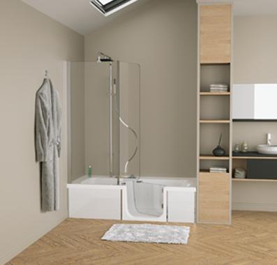 duo de kinedo le concept 2 en 1 qui allie douche et baignoire produits gallery. Black Bedroom Furniture Sets. Home Design Ideas
